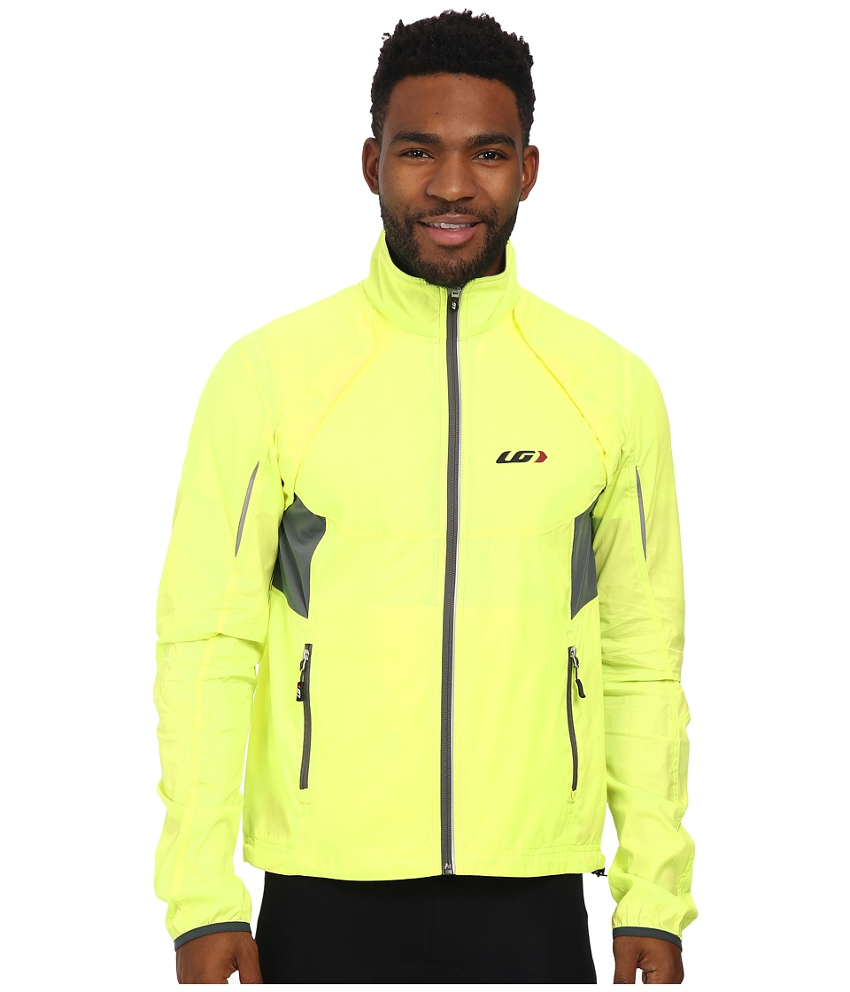 Louis Garneau Cabriolet Cycling Jacket Bright Yellow Mens Workout