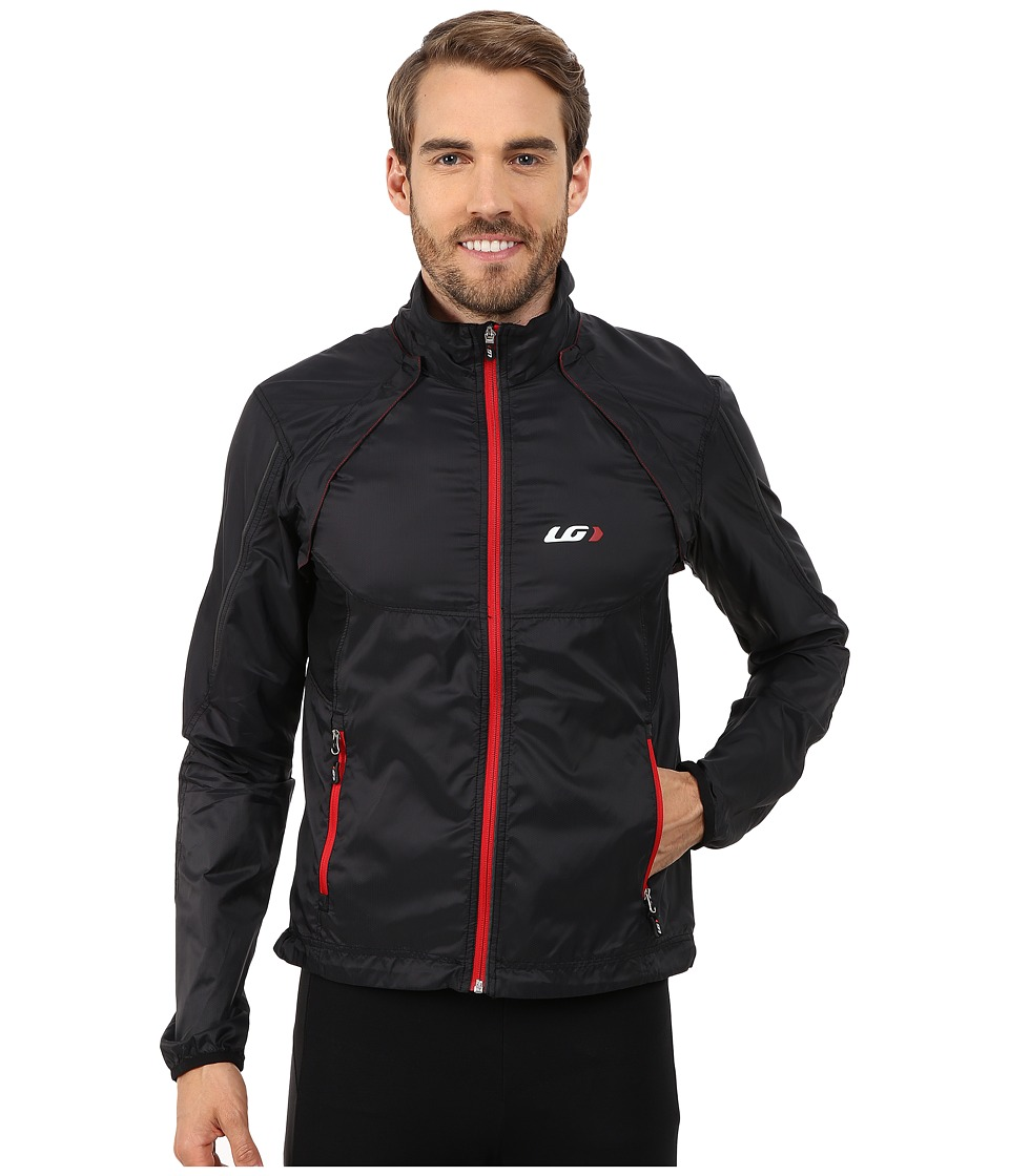 Louis Garneau Cabriolet Cycling Jacket Black/Red Mens Workout
