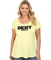 DKNY Jeans - Plus Size Foil Outline Logo Tee