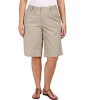 DKNY Jeans - Plus Size Lace Trimmed Star Poplin Bermuda Pants