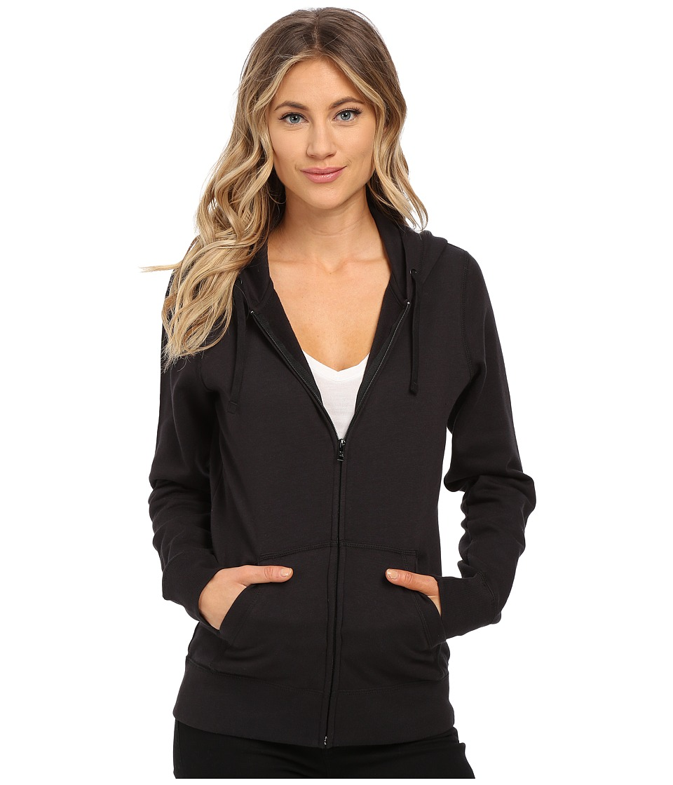 Hurley Solid Icon Zip Fleece (Black) Women