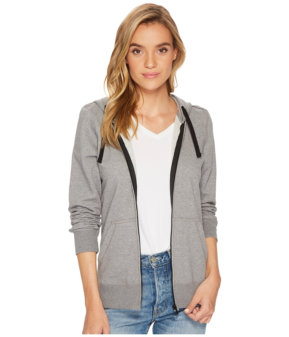 Hurley Solid Icon Zip Fleece (Heather Cool Grey) Women