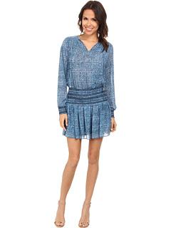 MICHAEL Michael Kors Sunari Smocked Dress Heritage Blue