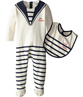 Junior Gaultier - Striped Bebe Gaultier Footie and Bib Set (Infant)