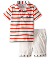 Junior Gaultier - Red Striped Polo and Shorts Set (Infant)