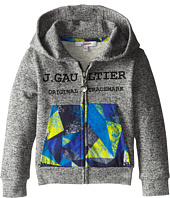 Junior Gaultier - Geometric Printed Pocket Hoodie (Toddler/Little Kid)