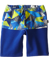 Junior Gaultier - Geometric Print Band Shorts (Toddler/Little Kid)