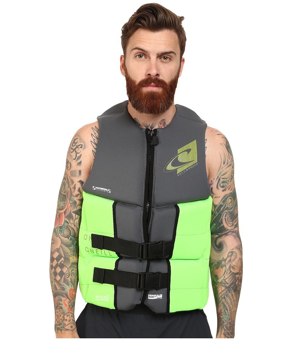 ONeill Assault L.S. USCG Vest Graphite/Day Glow Mens Vest