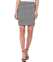 MICHAEL Michael Kors - Stripe Ponte Zip Skirt