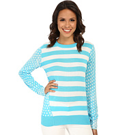MICHAEL Michael Kors - Dot Stripe Print Long Sleeve Sweater