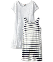 Junior Gaultier - Striped Tank Dress with Pierced Overlay Dress (Toddler/Little Kid)