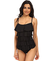MICHAEL Michael Kors - Ruffle Solids Cascading Front Ruffle Maillot
