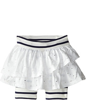 Junior Gaultier - Pierced Ruffled Skirt with Striped Leggings (Toddler/Little Kid)