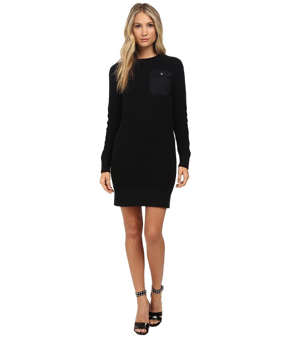 Marc by Marc Jacobs Pima Silk Sweater Dress Black Womens Dress