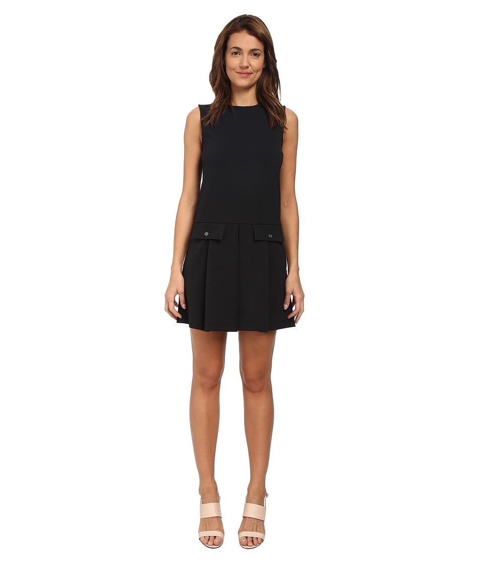 Marc by Marc Jacobs Jersey Twill Zip Dress Black Womens Dress