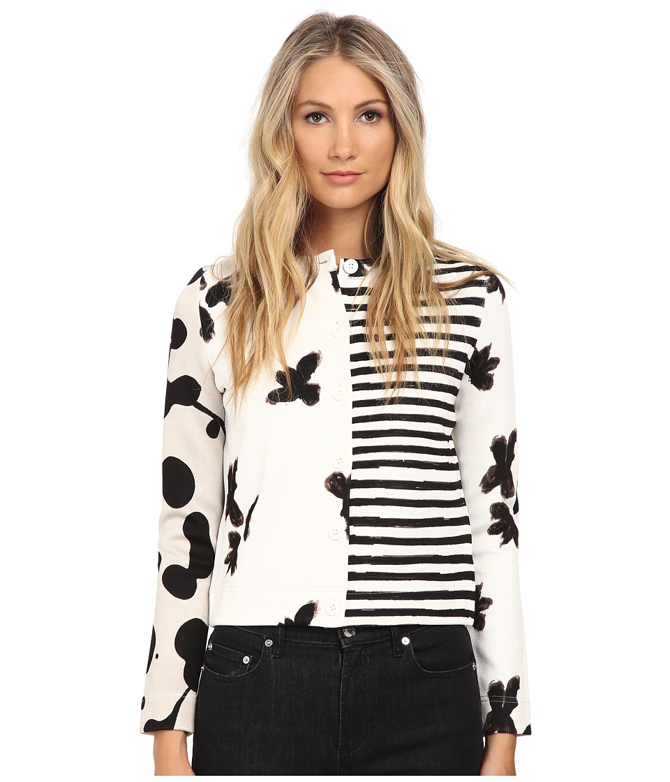 Marc by Marc Jacobs Patchwork Cardigan White Multi Womens Sweater