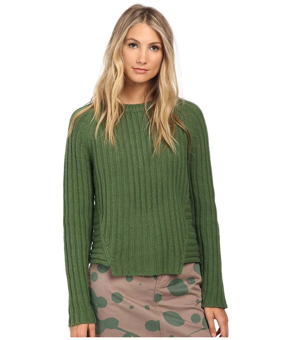 Marc by Marc Jacobs Cotton Wool Long Sleeve Sweater Dark Moss Womens Sweater