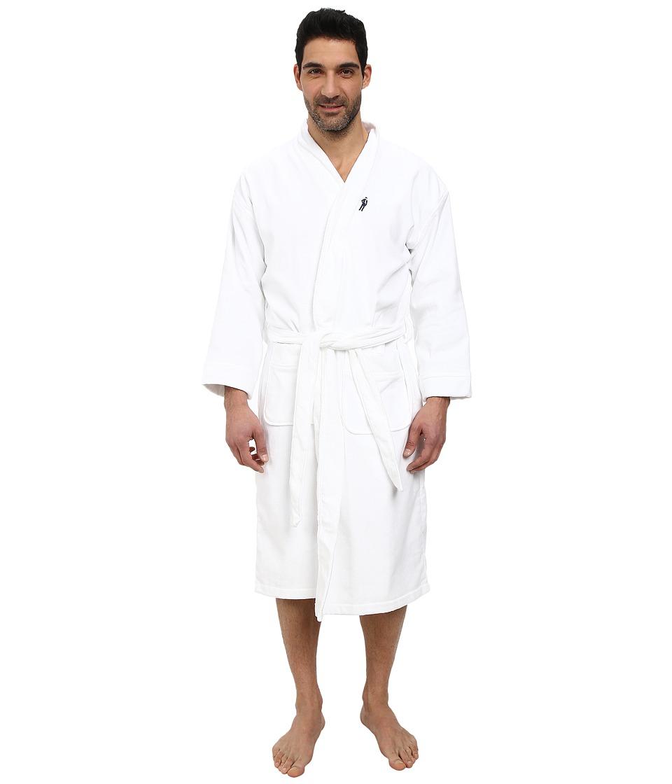 JOCKEY Terry Velour Solid Robe (White) Men's Robe