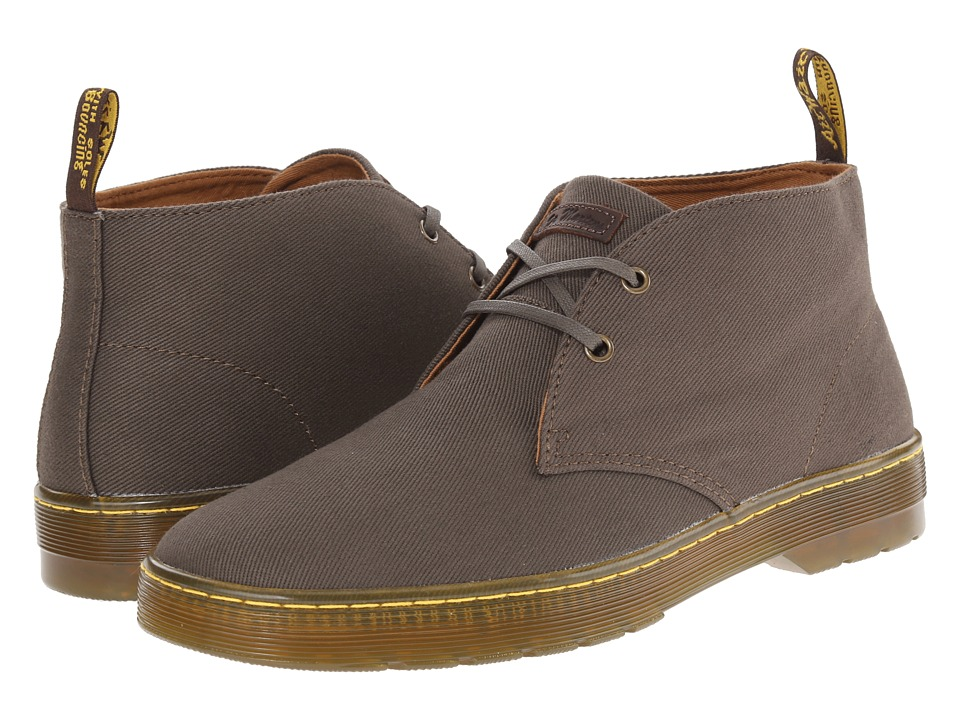 Dr. Martens - Mayport 2-Eye Desert Boot (Olive Overdyed Twill Canvas) Men