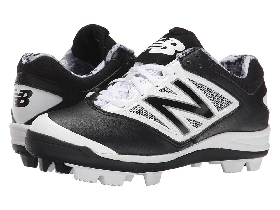 New Balance Kids - J4040V3 Baseball (Little Kid/Big Kid) (Black/White) Kids Shoes