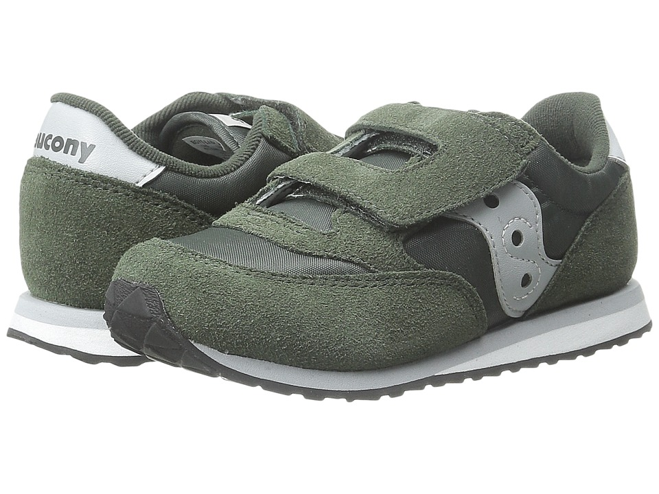 Saucony Kids Jazz HL Toddler/Little Kid Green/Grey Boys Shoes