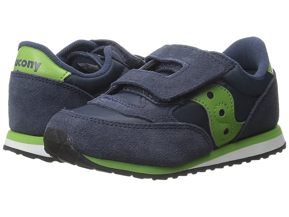 Saucony Kids Jazz HL Toddler/Little Kid Navy/Green Boys Shoes