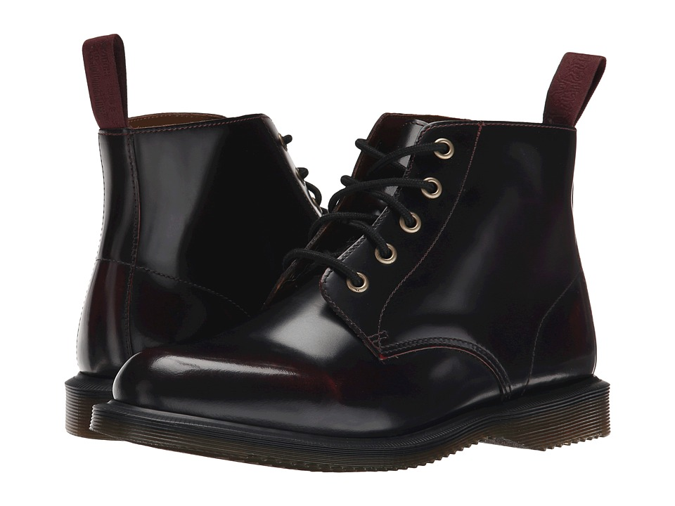 Dr. Martens Emmeline (Cherry Red Arcadia) Women's Lace-up Boots