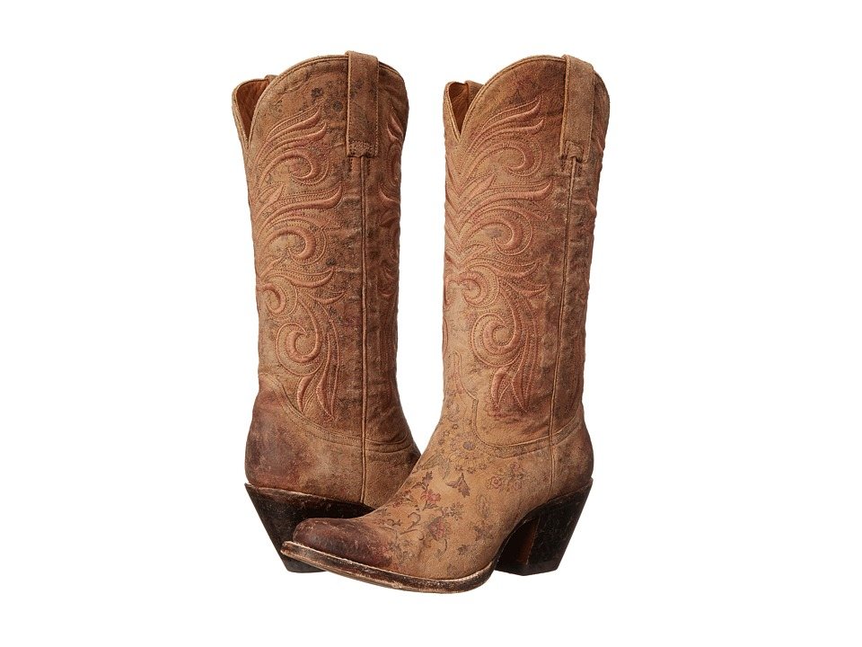Lucchese - Laurelie (Brown Floral Print) Cowboy Boots