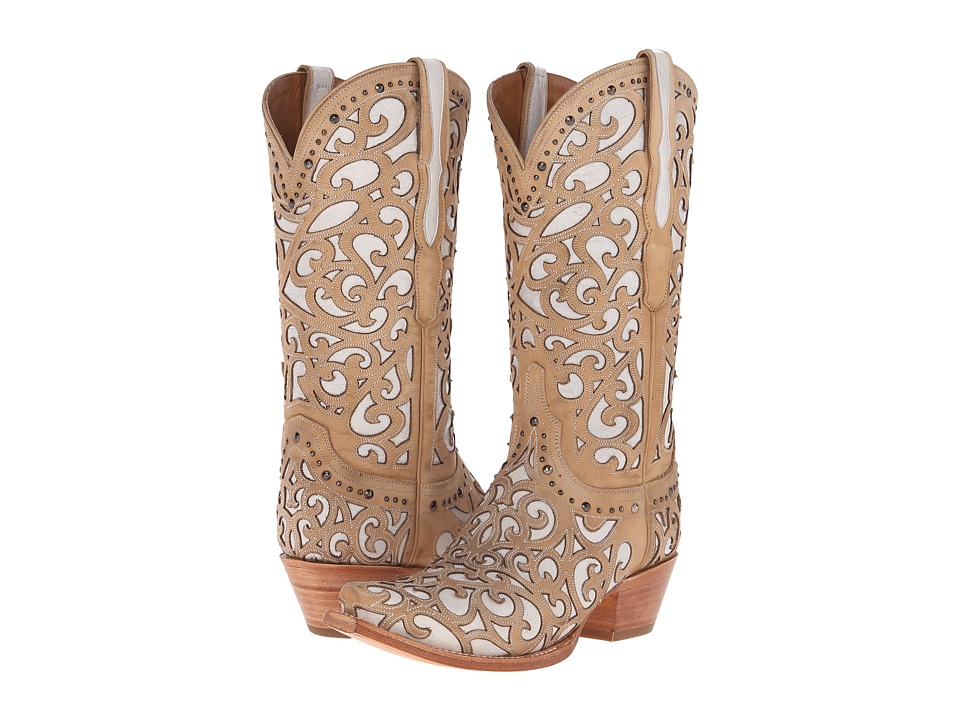 Lucchese Sierra (Bone) Cowboy Boots
