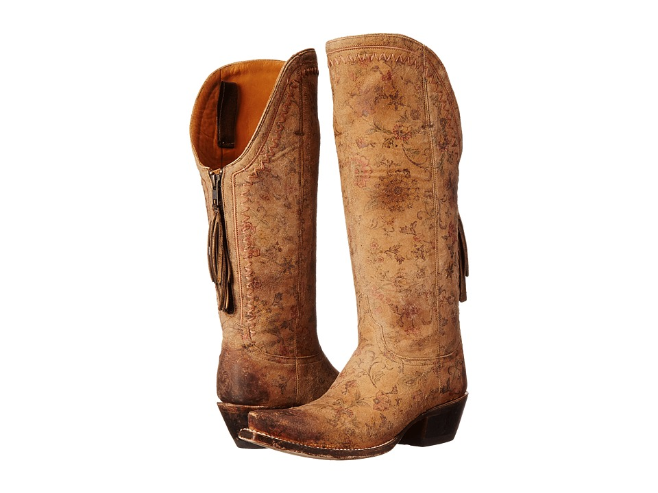 Lucchese - Vera (Brown Floral Print) Cowboy Boots