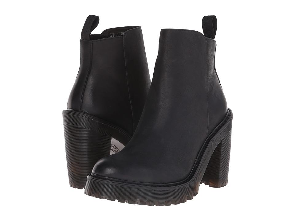 Dr Martens Magdalena (Black Polished Wyoming) Women's Shoes