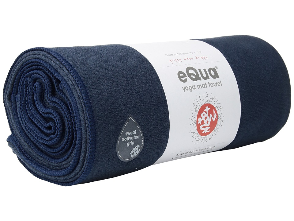 Manduka - eQua Mat Towel (Midnight) Athletic Sports Equipment