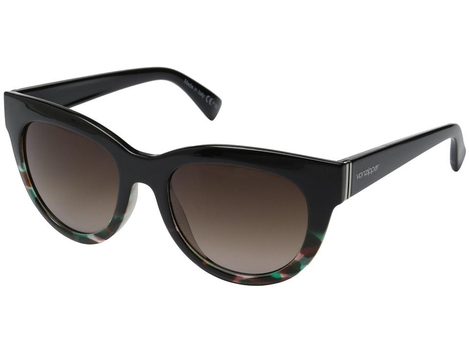 VonZipper Queenie (Muddled Teal/Brown Gradient) Sport Sunglasses