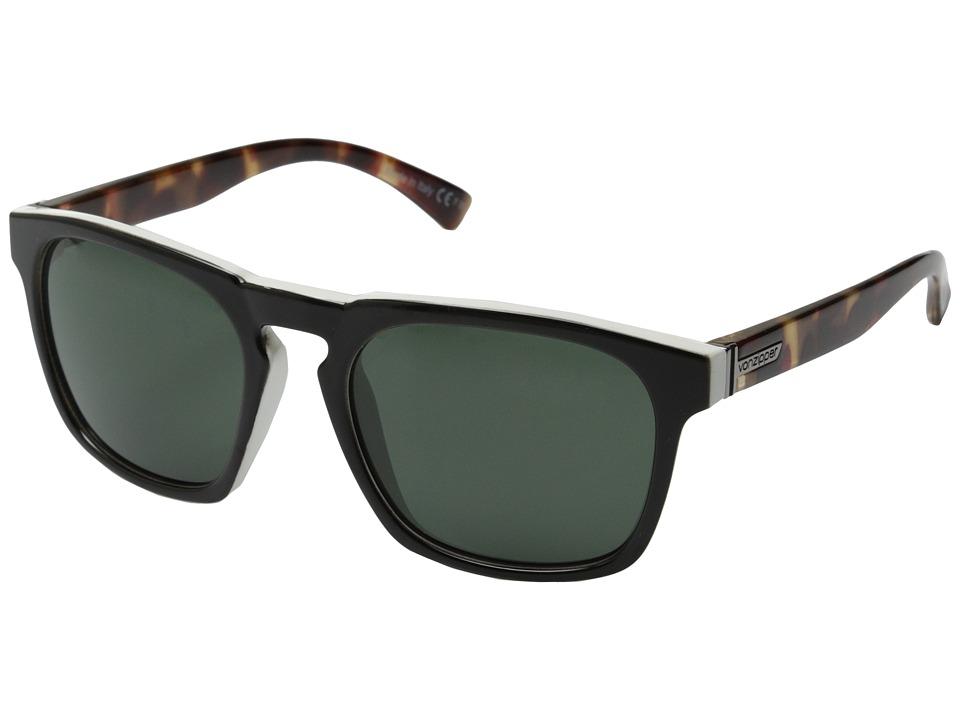 VonZipper Banner Black White Tortoise/Grey Sport Sunglasses