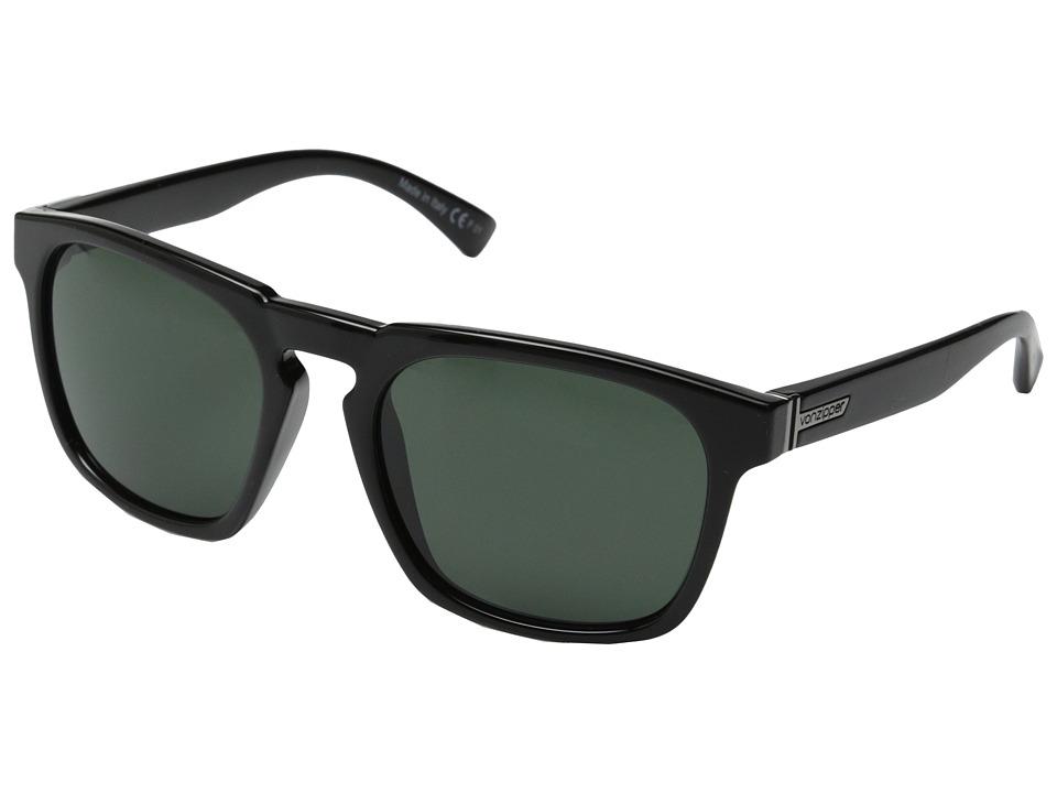 VonZipper Banner Black Gloss/Vintage Grey Sport Sunglasses