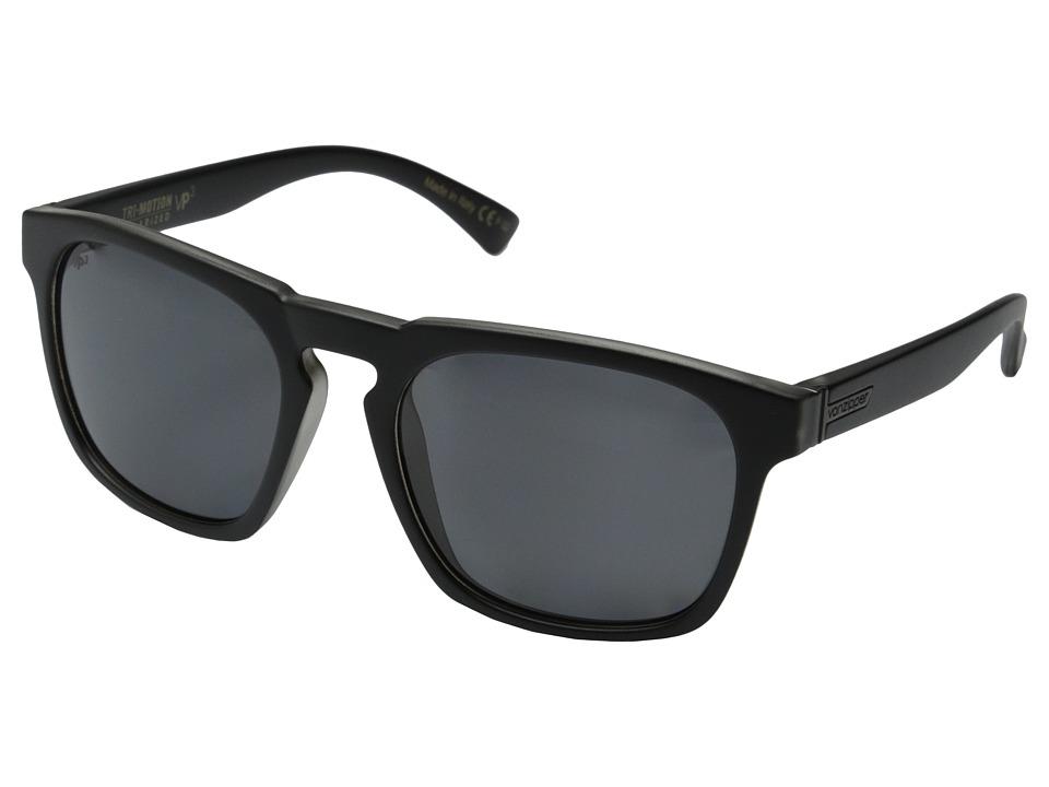 VonZipper Banner Polar Black Smoke Satin/Grey Poly Polar Sport Sunglasses
