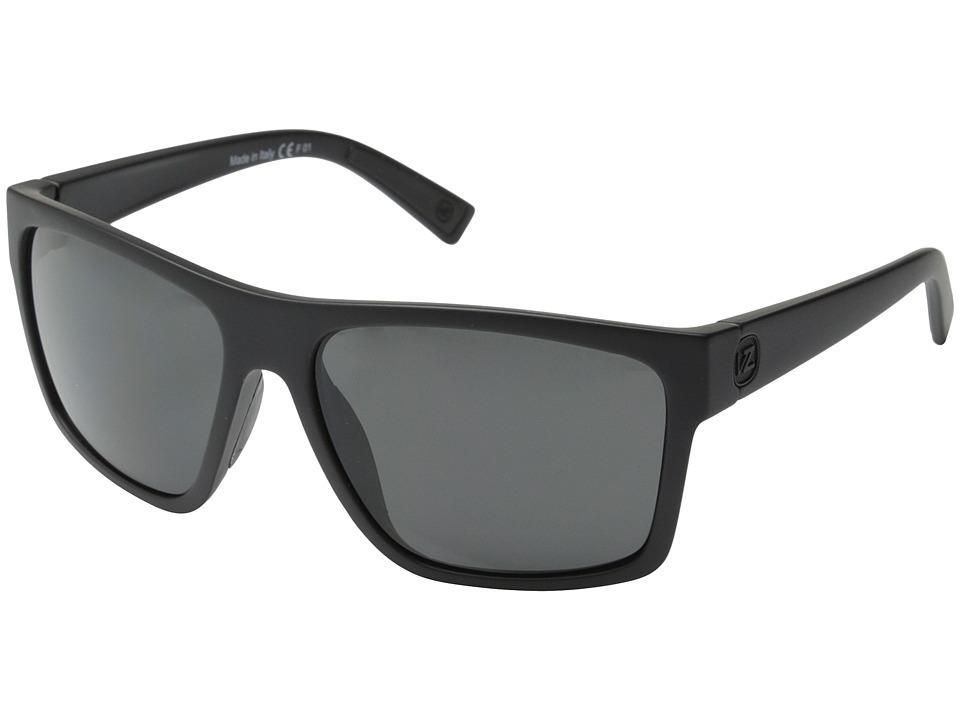VonZipper Dipstick (Black Satin/Grey) Sport Sunglasses