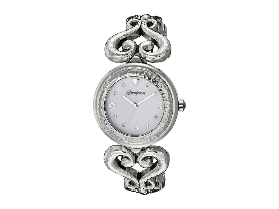 Brighton - W41120 Genoa Heart Timepiece (Silver) Watches