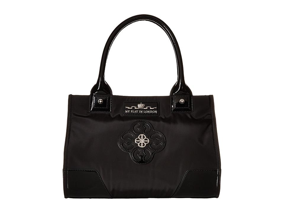 My Flat In London Winslow Manor Met Tote Black Tote Handbags