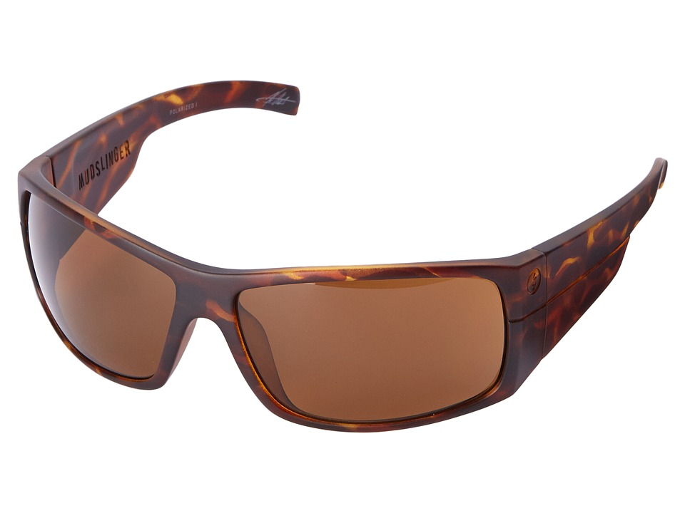 Electric Eyewear - Mudslinger Polarized (Matte Tort Shell/M1 Brown Polar) Sport Sunglasses
