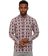 Publish - Walk Bonded Woven Plaid Long Sleeve Button Up Single Chest Pocket