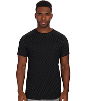 Publish - Weston Bonded Polka Knit Short Sleeve Crew with Scalloped Bottom