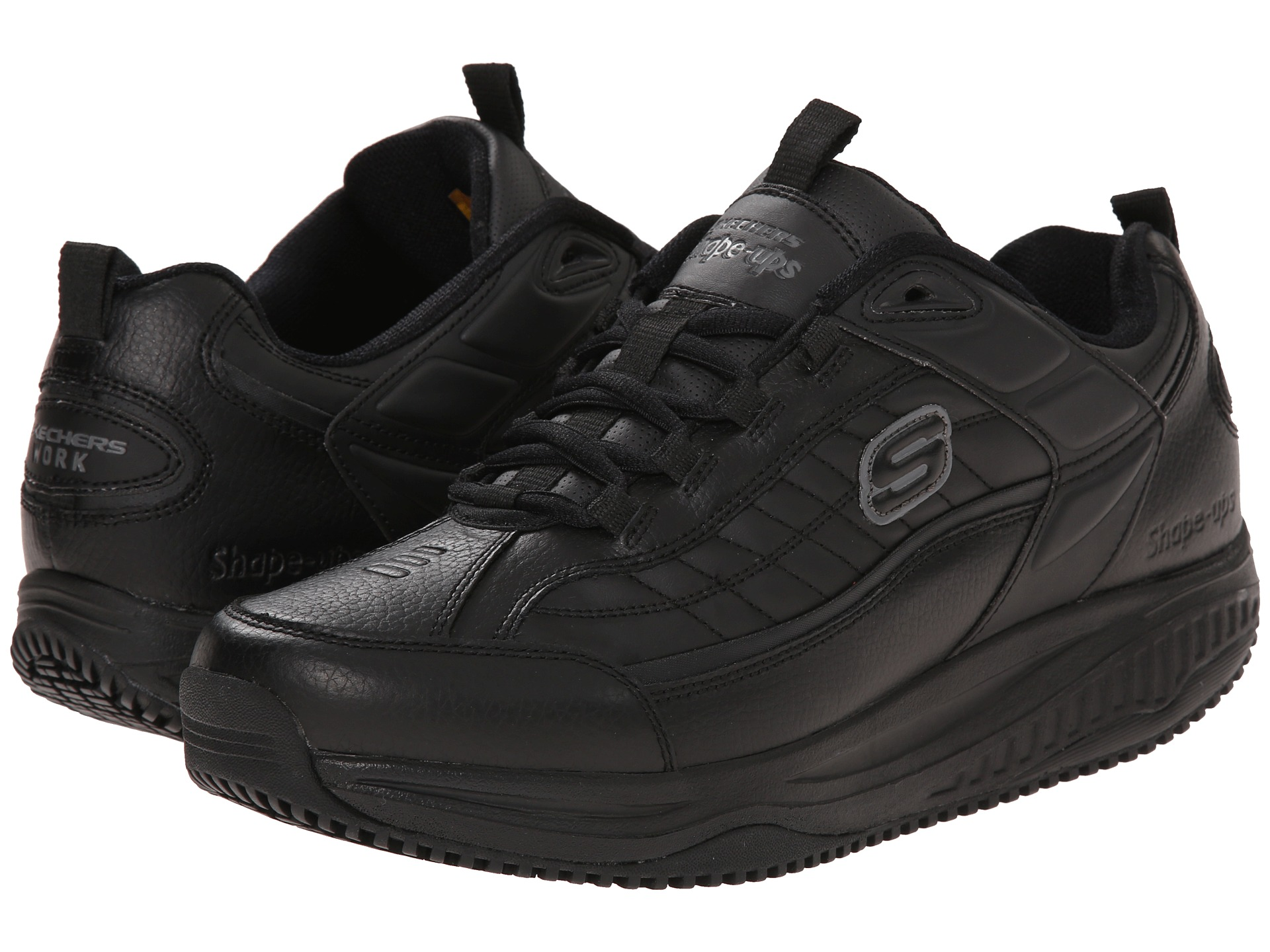 skechers work shape ups exeter black free. Black Bedroom Furniture Sets. Home Design Ideas