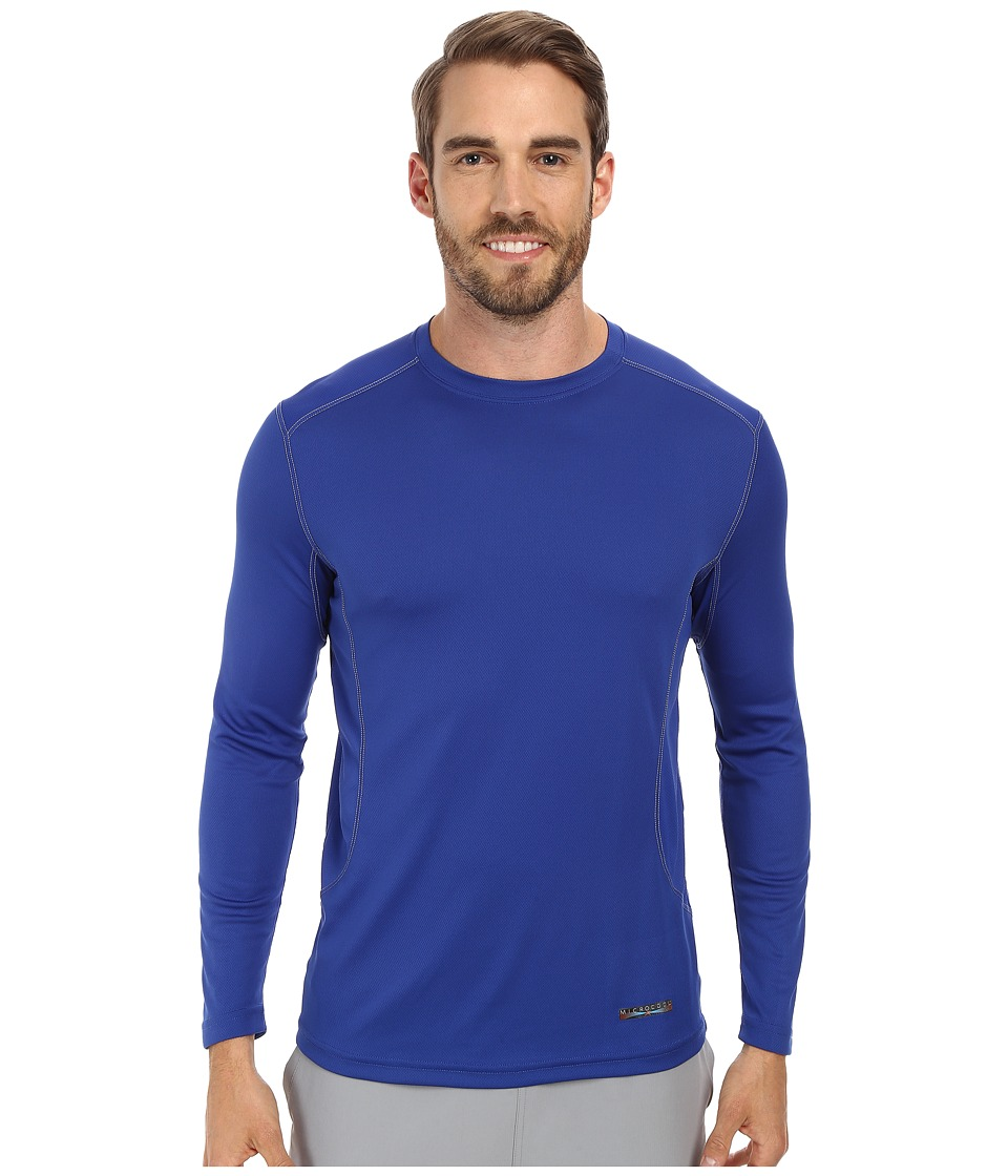 Terramar Microcool Long Sleeve Crew W8933 Indigo Mens Long Sleeve Pullover