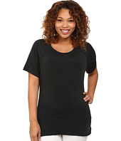 Terramar - Plus Size Short Sleeve Scoop Top W8790W