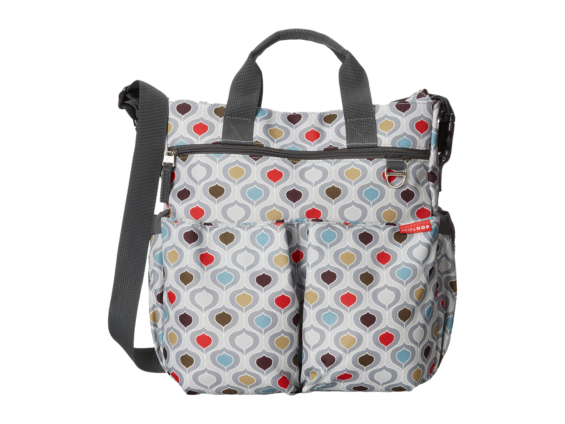 skip hop duo signature diaper bag multi free shipping both ways. Black Bedroom Furniture Sets. Home Design Ideas