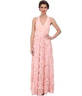 Aidan Mattox - Chiffon Halter Gown with Rosette Skirt