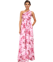 Aidan Mattox - One Shoulder Printed Chiffon Gown