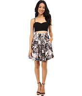 Aidan Mattox - Bustier Top with Printed Party Skirt