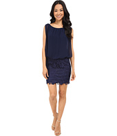 Aidan Mattox - Blousson Cocktail Dress with Lace Skirt